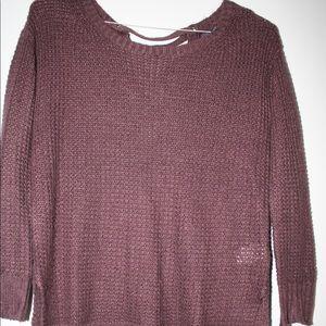 American Eagle Purple Long Sleeve Sweater